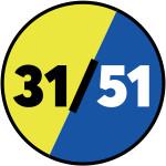 315100 Fluorescent yellow / Navy blue